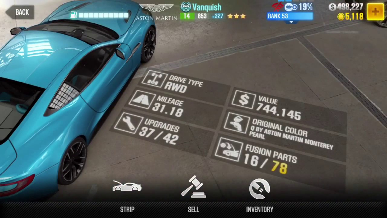 Csr 2 Aston Martin Vanquish Full Tune Without Full Stage 6 Update Best Tune For Elite 1 Youtube