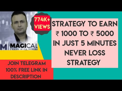 Download Strategy to earn Rs.1000 to Rs 5000 in just 5 minute on daily basis;minimum earning Rs. 5000