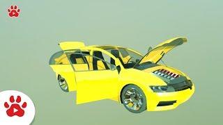 Hover Halo Warthog Hybrid Hijet Jaguar | Super Cars for Kids | #h Colour Song for Kids