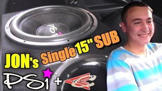 Great Sounding Car Audio Songs w/ Jons PSI Subwoofer | Custom Ported Box & LOUD Crescendo Speakers