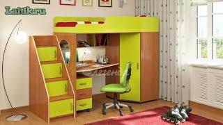 Детская кровать чердак Легенда 4 с рабочей зоной. Мебель. Интернет-магазин