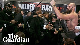 Tyson Fury and Deontay Wilder's press conference descends into chaos