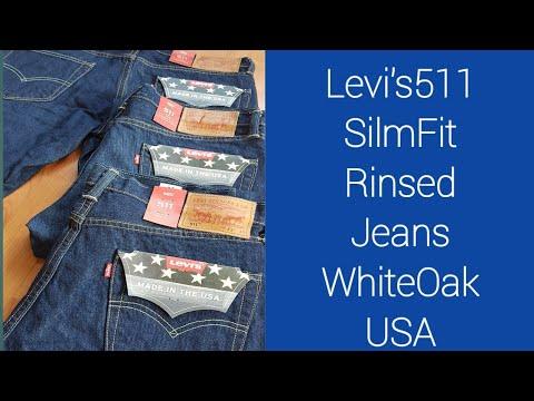 Levis511 SilmFit Rinsed Jeans WhiteOak Usa