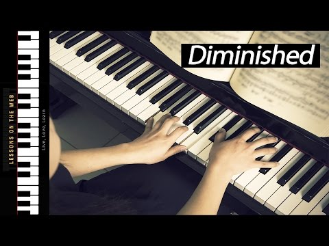 How to Play Diminished Triads - Learning Chords on Piano
