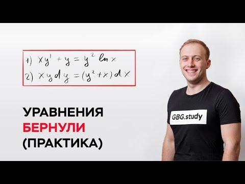 Уравнения Бернулли. Дифференциальны уравнения