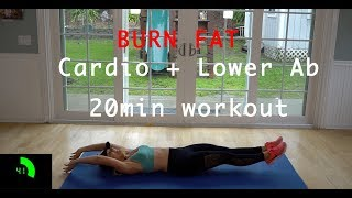 Fat burner lower ab + cardio jump rope home workout