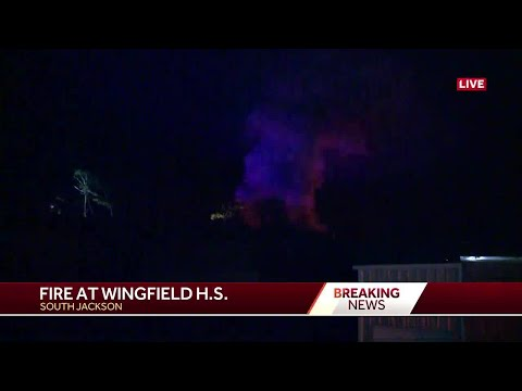 Fire at Wingfield High School