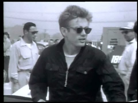 James Dean at Race track