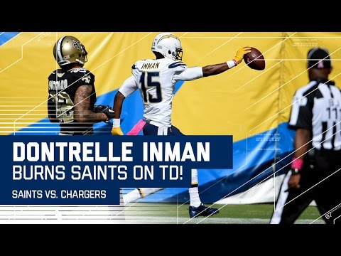 Dontrelle Inman Speeds Past the Saints for a 57-Yard TD! | Saints vs. Chargers | NFL