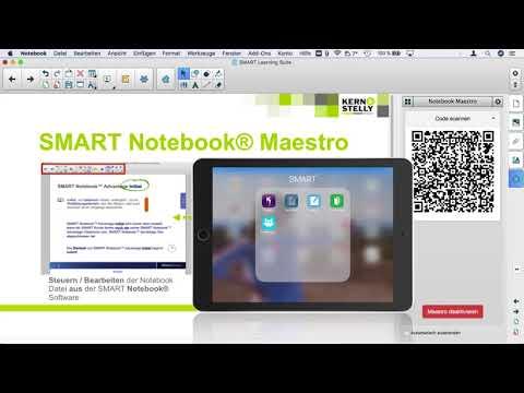 Einbindung eines Apple iPads in der SMART Notebook® Software