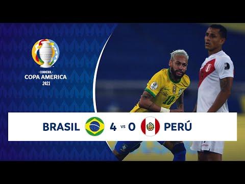 HIGHLIGHTS BRASIL 4 - 0 PERÚ   COPA AMÉRICA 2021   17-06-21
