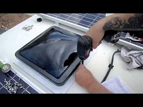 Fantastic Vent Fan Installation On Dodge Pleasure Way CamperVan Class B RV Van