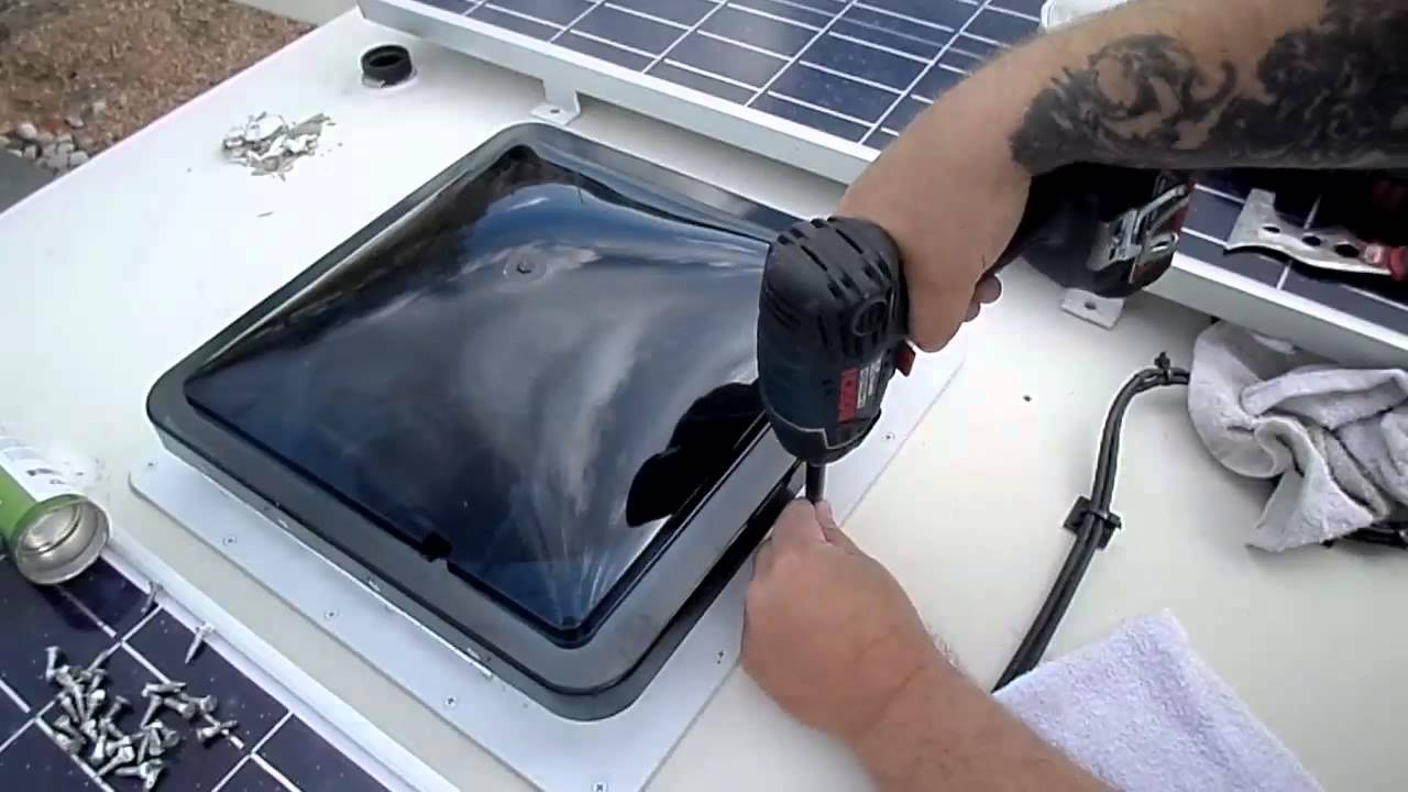 Wiring Diagram Caravan Solar Panel Fantastic Vent Fan Installation On Dodge Pleasure Way