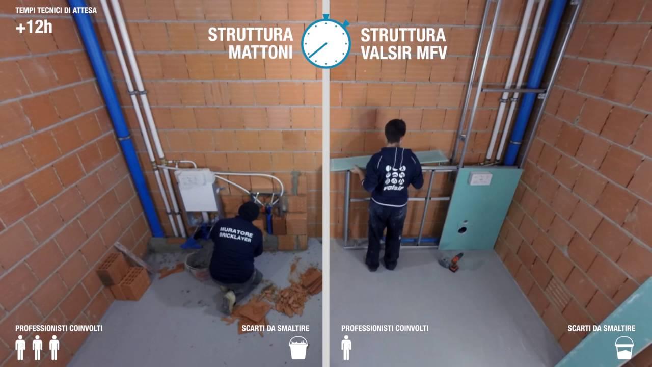 Pareti Bagno In Cartongesso sistema d'installazione per sanitari facile e veloce - valsir