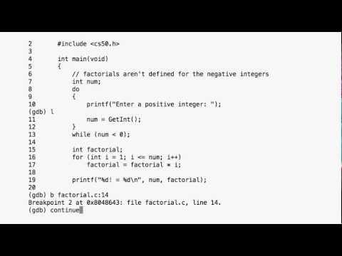 introduction to GDB a tutorial - Harvard CS50