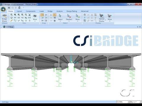 CSiBridge - 04 Design of Precast Concrete Composite Girder Bridges: Watch & Learn