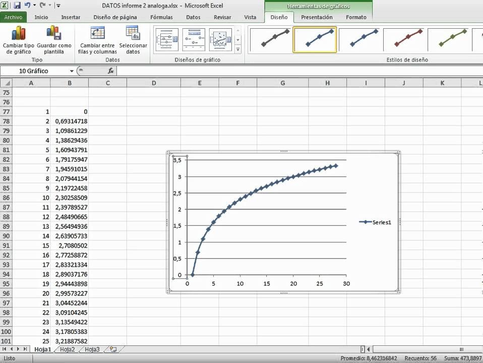 escala logaritmica en excel.avi - YouTube