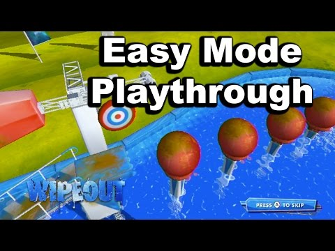 Wipeout The Game - Easy Mode Playthrough (Wii)