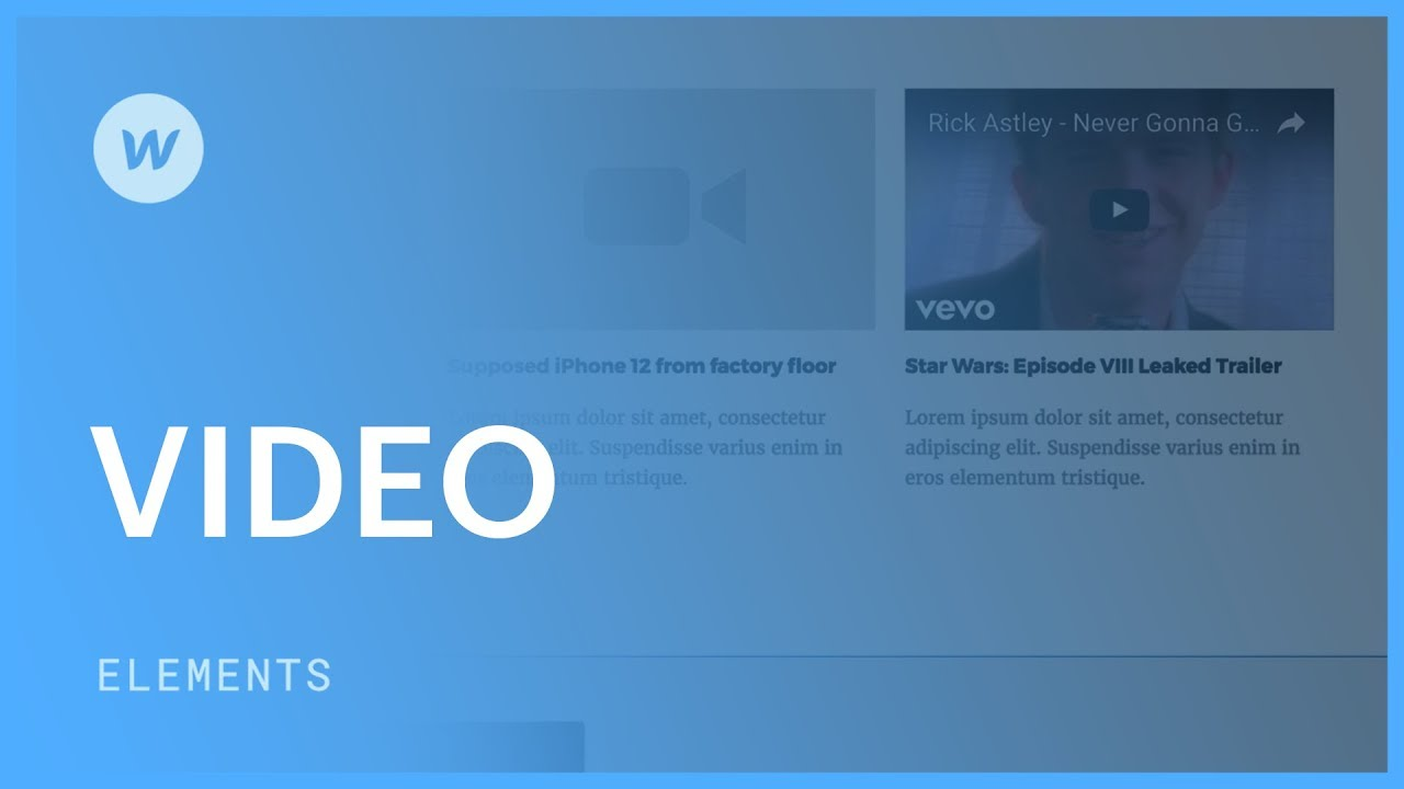 Videos (YouTube, Vimeo) - Web design tutorial