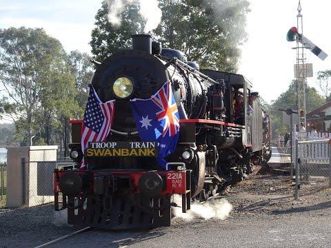 AC16 221A and PB15 448 - QPSR Troop Train - 14/08/2016