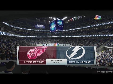NHL 17 Gameplay - Detroid Red Wings vs Tampa Bay Lightning