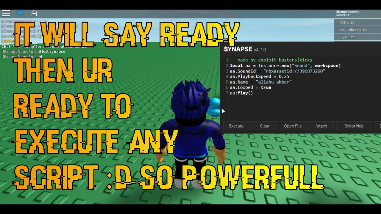 Free Roblox Hack Script Executrer Script Executor Synapse Free Version Roblox Patched 08 08 2018 Youtube