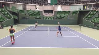 2018兵庫国際ジュニアテニストーナメント1 女子ダブルス準々決勝 田邑来...