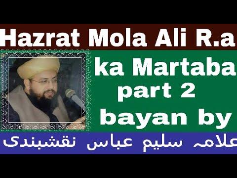 Martaba e   hazrat ali R A  Allama Saleem Abbas NAQSHBANDI  part 2