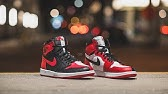 bedff2bc7b2fd6 HOW GOOD IS THE AIR JORDAN 1 HOMAGE TO HOME  - YouTube