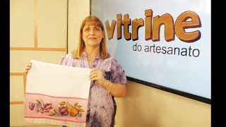 Pintura de frutas e flores em pano de copa com Beth Matteelli
