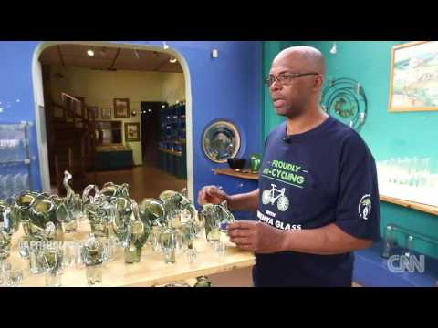 The art of glass blowing in Swaziland - CNN Video