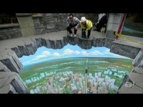 Interactive 3D Street Art, Sidewalk art - YouTube