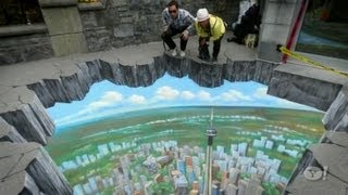 Interactive 3D Street Art, Sidewalk art