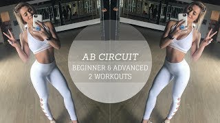 AB WORKOUT | Quick Beginner and Advanced Circuits
