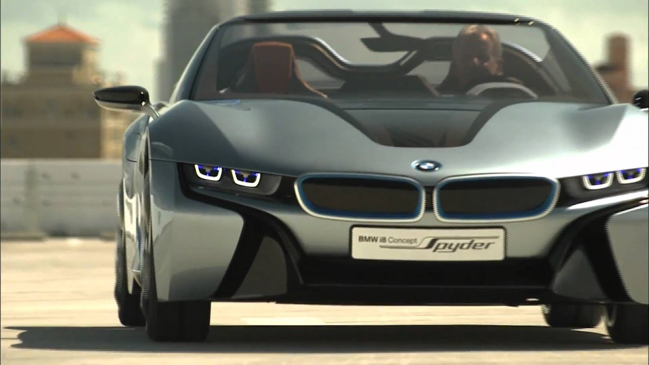 BMW i8 Spyder Concept Driving Footage - YouTube