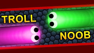 TROLLING LITTLE SNAKES IN SLITHERIO A.I (Funny Moments)  | Slither.io