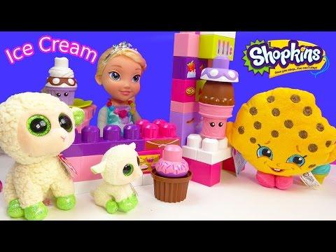 Queen Elsa Disney Frozen Ice Cream Cupcakes 2 Shopkins Plushies Kooky Cookie Beanie Boos Toy Video