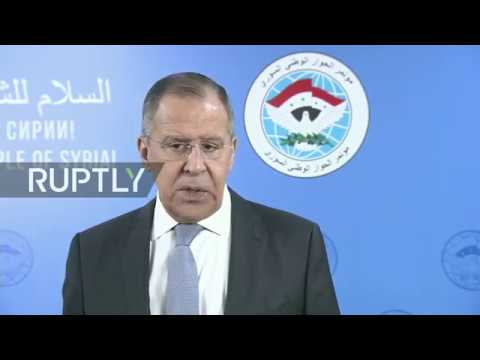 REFEED: Syrian National Dialogue Congress in Sochi, day 2: statement by Lavrov (ENG)