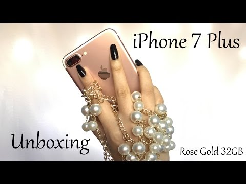 Unboxing Iphone 7 Plus Rose Gold 32 Gb Apple Silicone Case In