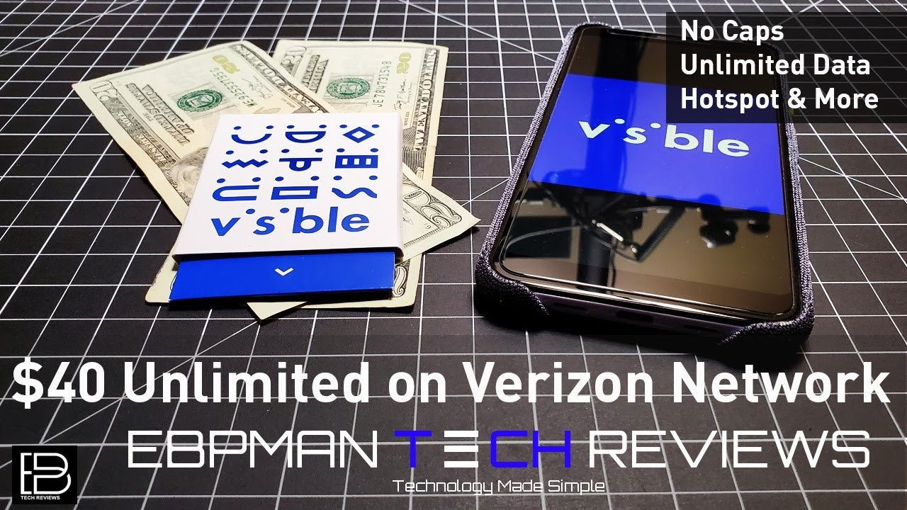 $40 on Verizon | Visible Wireless | Unlimited Data, No Throttling,  Unlimited Hotspot, No Contract