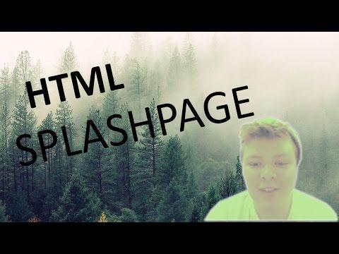 Random Image Splash Page (HTML & CSS)