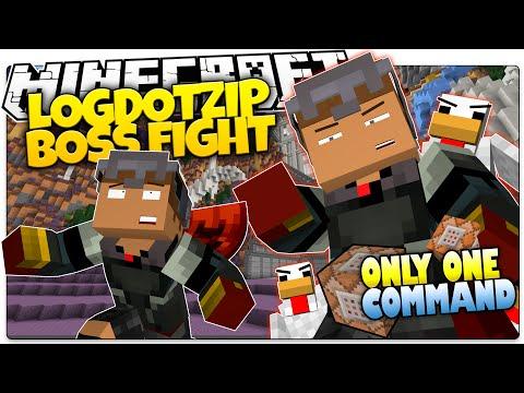 Minecraft | LOGDOTZIP BOSS BATTLE | Epic Armor! | Only One Command (Minecraft Custom Command)