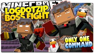 Minecraft | LOGDOTZIP BOSS BATTLE | Epic Armor! | Only One Command (Minecraft Custom Command)