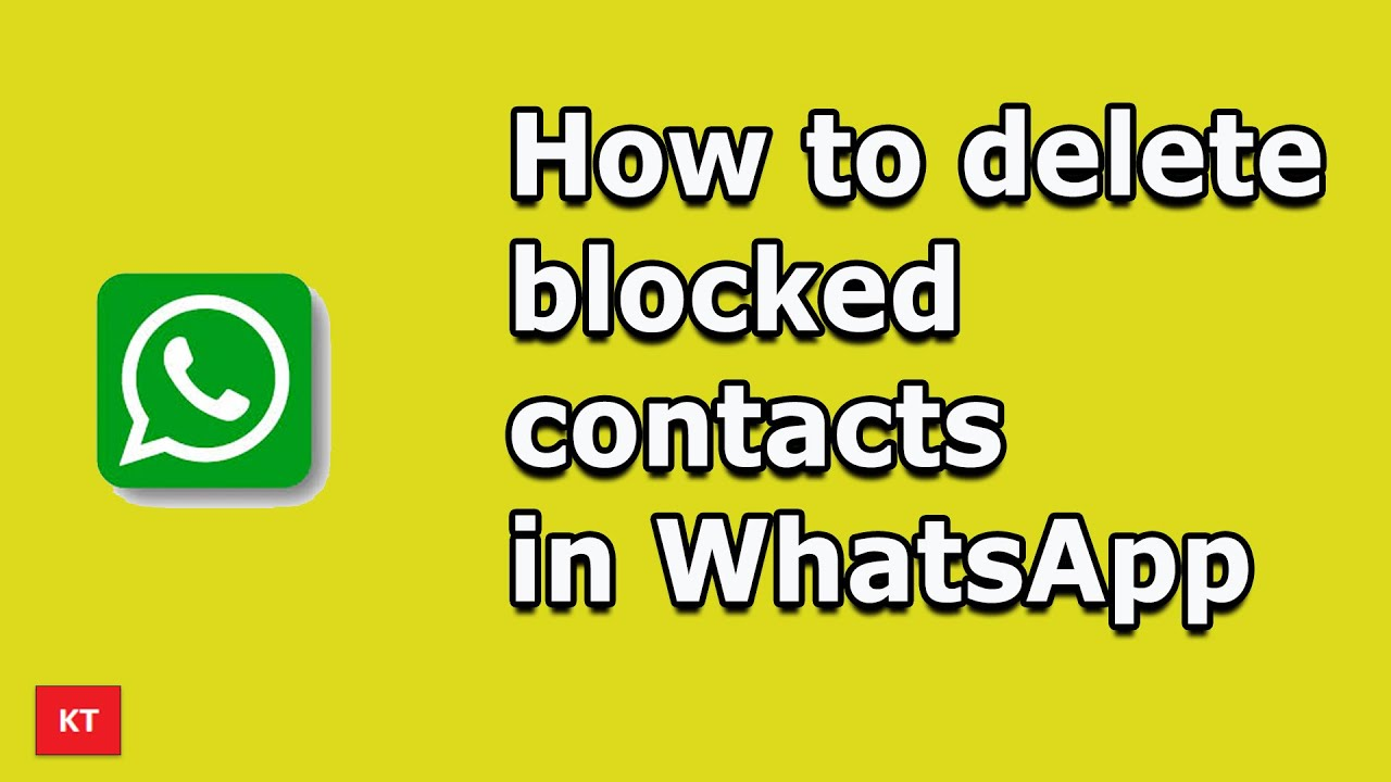 Whatsapp iphone unblock contact How do