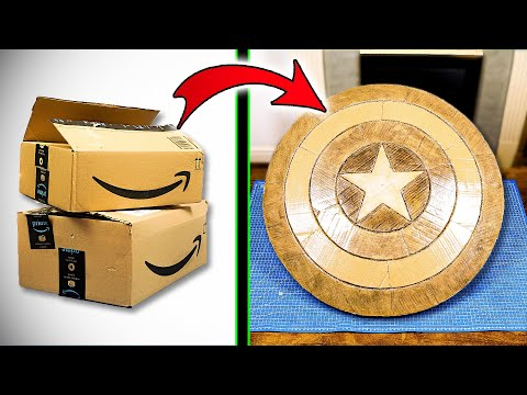 DIY Captain America shield cardboard