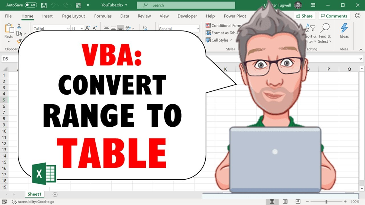 Excel VBA - How to Convert Range into Excel Table Using VBA