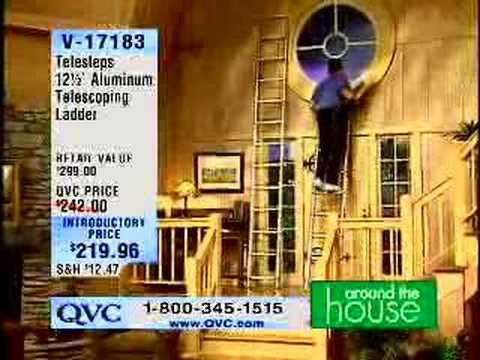 QVC Guy falls off ladder on TV - so FUNNY