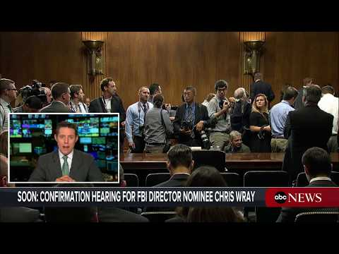 Donald Trump FBI head nominee Christopher Wray Senate confirmation hearing