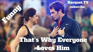 Download Tennis. Roger Federer - TOP EVER FUNNY Moments (part 1) Mp3 and Videos