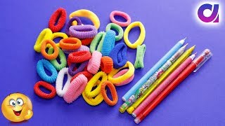 Best use of waste hair rubber bands & Pen crafts idea | DIY Home Decor | Artkala